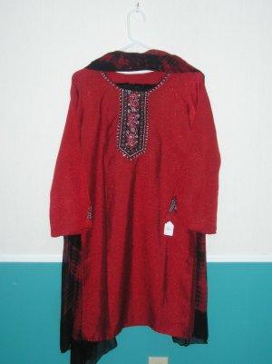 Shalwar Kameez - Red Silk