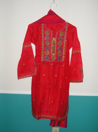 Shalwar Kameez - Red Cotton