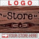 Old-Time Carved Wood Panel Pyrography eCRATER Store Y-S-H LOGO