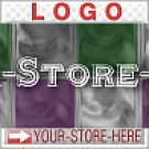 Checker Glass Block Purple Green eCRATER Store Y-S-H LOGO