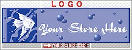 Angel Fish in Water with Bubbles Blue eCRATER Store Y-S-H LOGO