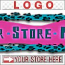 Funky Leopard Print Mod Design eCRATER Store Y-S-H LOGO