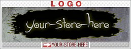Torn Out Hole Custom Dark Design eCRATER Store Y-S-H LOGO