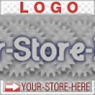 Blue Gray Gear Sale Unique Design eCRATER Store Y-S-H LOGO
