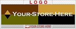 Bold Geometric Diamonds & Squares eCRATER Store Y-S-H LOGO