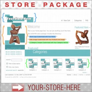 Boxy Teal with your ENHANCED PRODUCT IMAGE - Custom Y-S-H eCRATER Store Package