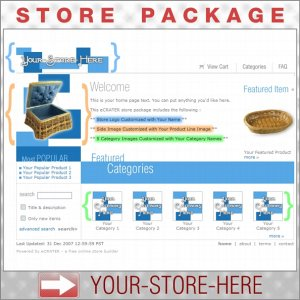 Boxy Blue with your ENHANCED PRODUCT IMAGE - Custom Y-S-H eCRATER Store Package