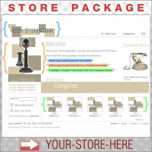 Boxy Tan with your ENHANCED PRODUCT IMAGE - Custom Y-S-H eCRATER Store Package
