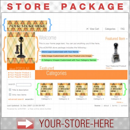 Classic Plaid with your ENHANCED PRODUCT IMAGE - Custom Y-S-H eCRATER Store Package