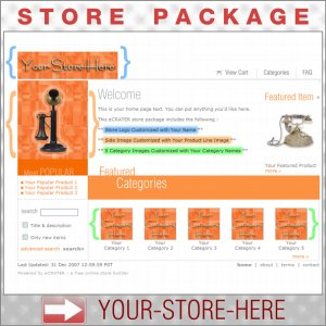 Brilliant Orange with your ENHANCED PRODUCT IMAGE - Custom Y-S-H eCRATER Store Package