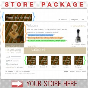 Warm Stripes with your ENHANCED PRODUCT IMAGE - Custom Y-S-H eCRATER Store Package
