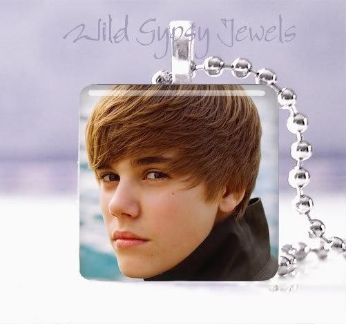 """Hot Justin Bieber 1"""" glass tile pendant necklace Unique GIFT IDEA"""