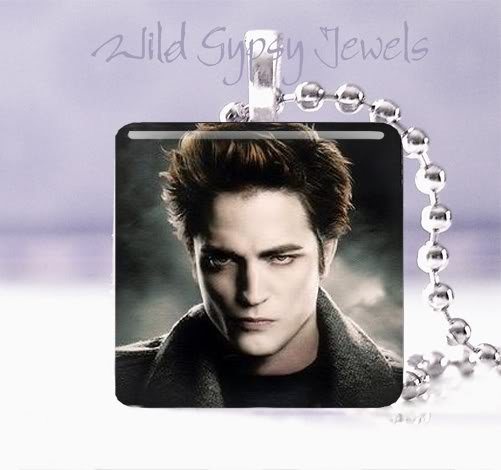 "Hot Gift Idea EDWARD Twilight saga 1"" glass pendant Necklace"
