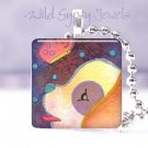 "Colorful dog doggie pup whimsical 1"" pendant Gift IDEA"