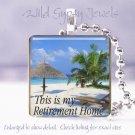 Tropical Retirement Island Ocean Sea Beach glas pendant
