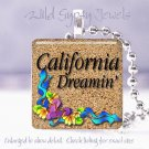 California Dreamin' Beach Girl Flip Flops glass pendant