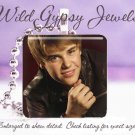 "Justin Bieber sexy black leather jacket 1"" glass tile pendant necklace gift idea"