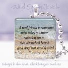 Tropical Vacation Beach Girl Flip Flops glass pendant