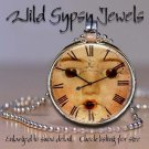 Round glass tile metal charm doll lovers pendant necklace grungy altered clock