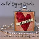 Nana Mom Grandma Mothers Day LOVE HEART sheet music glass tile pendant necklace