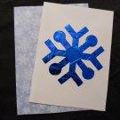 Iris Folded Blue Snowflake