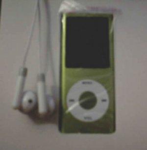 50 - 1.8 inch 2GB Ipod Nano Style MP3-MP4 Video Player with Voice recorder & FM Radio -Green