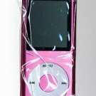 5 - 1.8 inch 4GB Ipod Nano Style MP3-MP4 Video Player with Voice recorder and FM Radio -Pink
