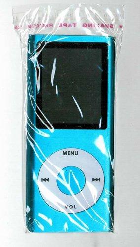 50 - 1.8 inch 4GB Ipod Nano Style MP3-MP4 Video Player with Voice recorder & FM Radio -Blue