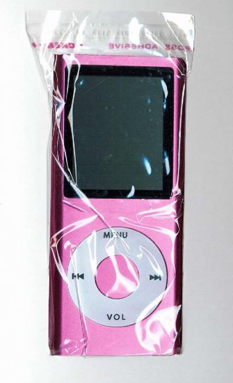 50 - 1.8 inch 4GB Ipod Nano Style MP3-MP4 Video Player with Voice recorder & FM Radio -Pink