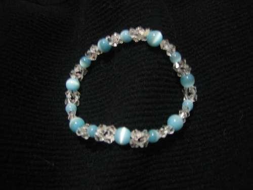 """Beaded Blue """"Cat's Eye"""" bracelet"""