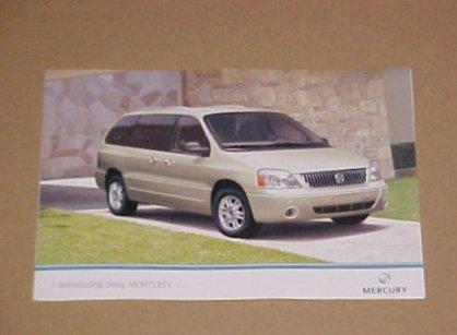 2004 Mercury Monterey Limited Edition Brochure