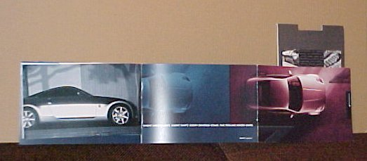 2004 Nissan 350Z New Tri-Fold Brochure Set