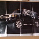 2006 Hummer H3 New Black Factory Poster Brochure