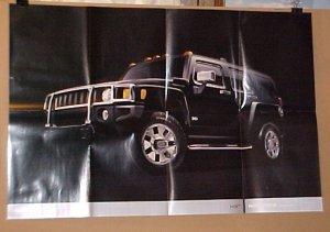 2006 Hummer H3 New Black Factory Poster Brochure