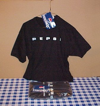 Pepsi Cola Generation Next New Large Black Tee Shirt