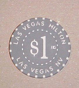 Hilton Hotel & Casino Las Vegas Casino Poker Chip