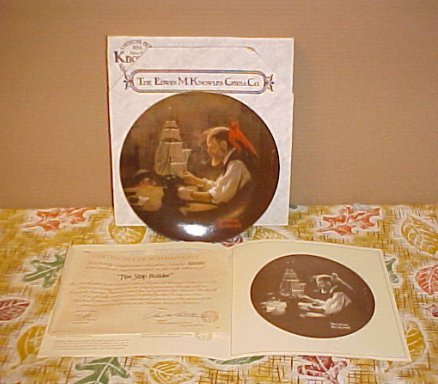Norman Rockwell Knowles The Ship Builder Knowles Plate