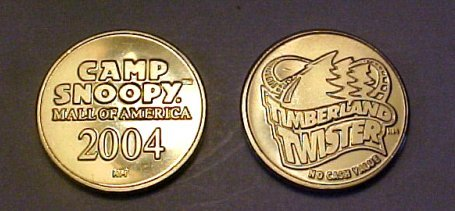 Mall Of America 2004 Timberland Camp Snoopy Coin