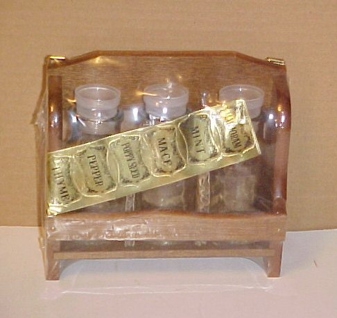 Brand New In Wrapper Classic Wooden Spice Rack