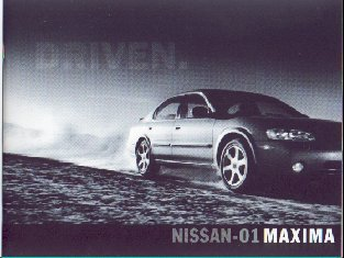 Classic New 2001 Nissan Maxima Factory Brochure