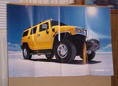 2003 Hummer H2 Unused Factory Poster Brochure