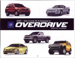 2003 Brand New Pontiac GM Experience Calendar