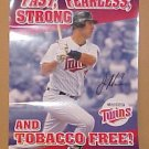 Minnesota Twins Baseball Joe Mauer Fearless Poster