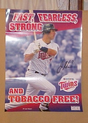 Minnesota Twins Baseball Joe Mauer Fearless Poster