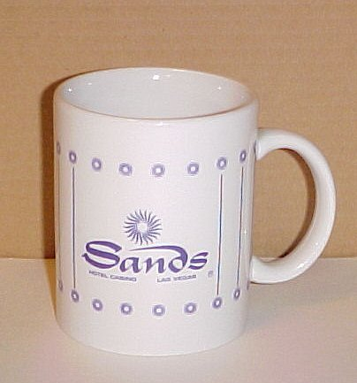 Sands Las Vegas Closed Casino Drink Glass Coffee Mug