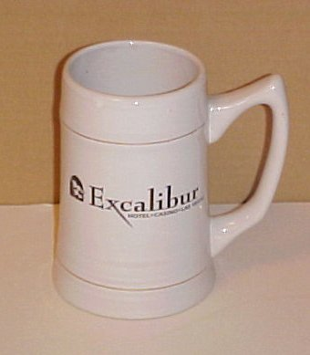 Las Vegas Excalibur Resort and Casino Bud Light Beer Stein Mug