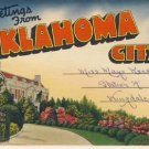 Greetings from Oklahoma City Postcard Booklet VP-5392