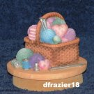 SEWING BASKET Jar Candle Topper Knitting Yarn Basket Theme Decor Decoration