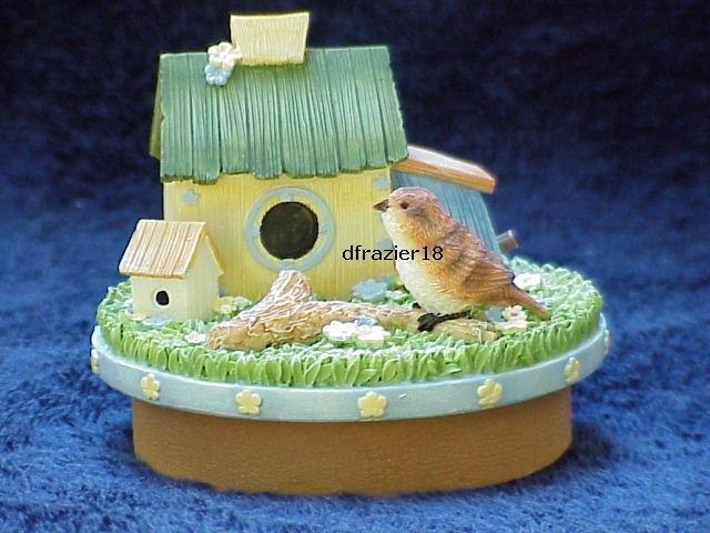 SPRING BIRDHOUSE Jar Candle Topper Bird House