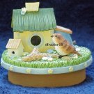 SPRING BIRDHOUSE Jar Candle Topper Bird House
